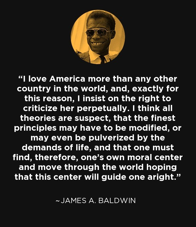 James Baldwin Quote on Love for America