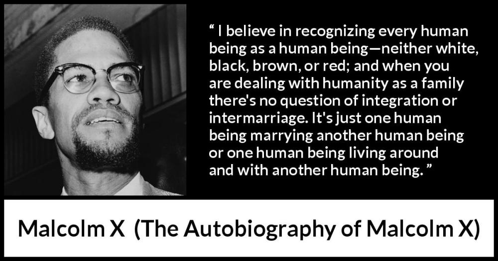 Malcolm X Quote on Human Beings